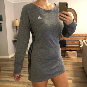 Adidas heather gray activewear dress or shirt M
